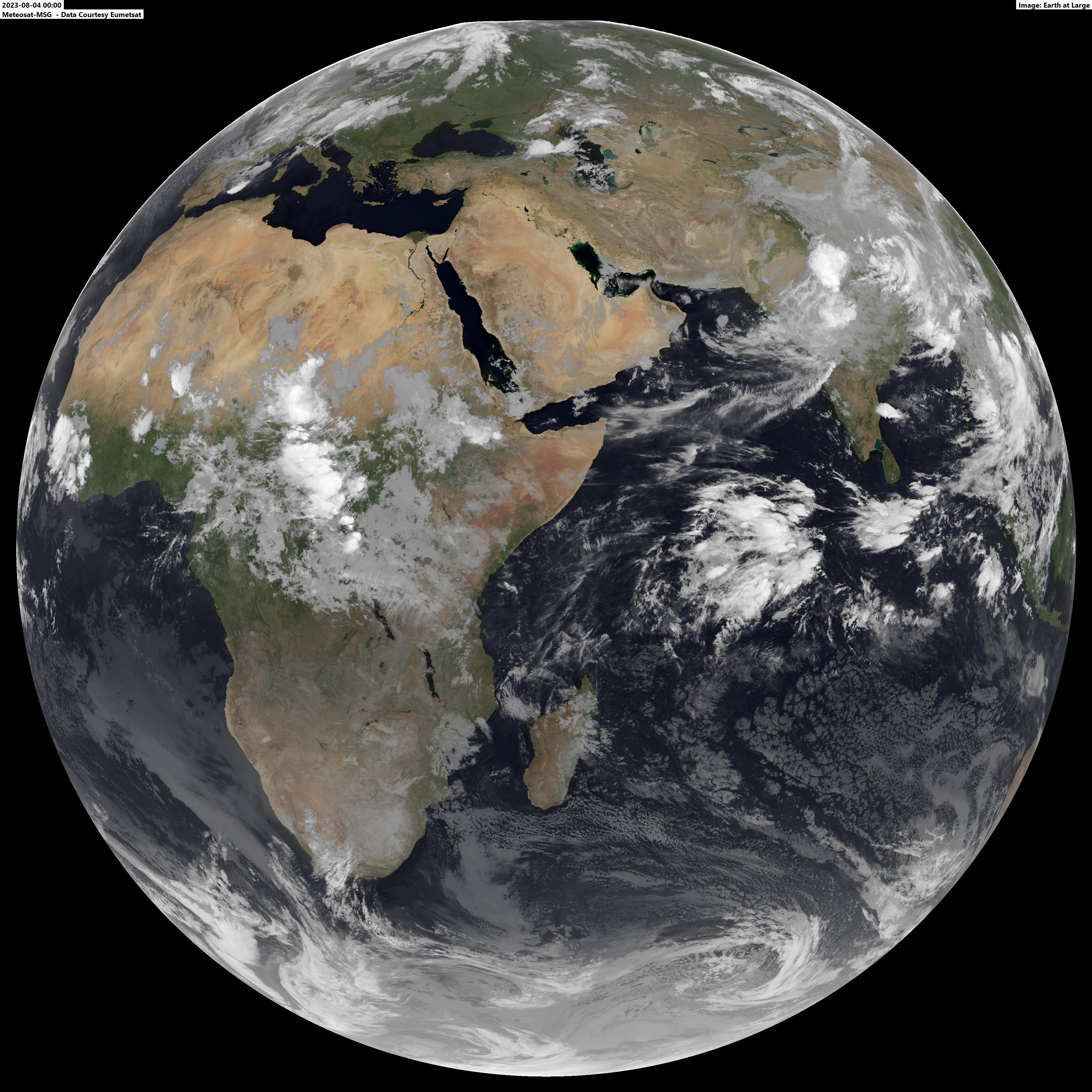 تصویر ماهواره ای کل کره زمین