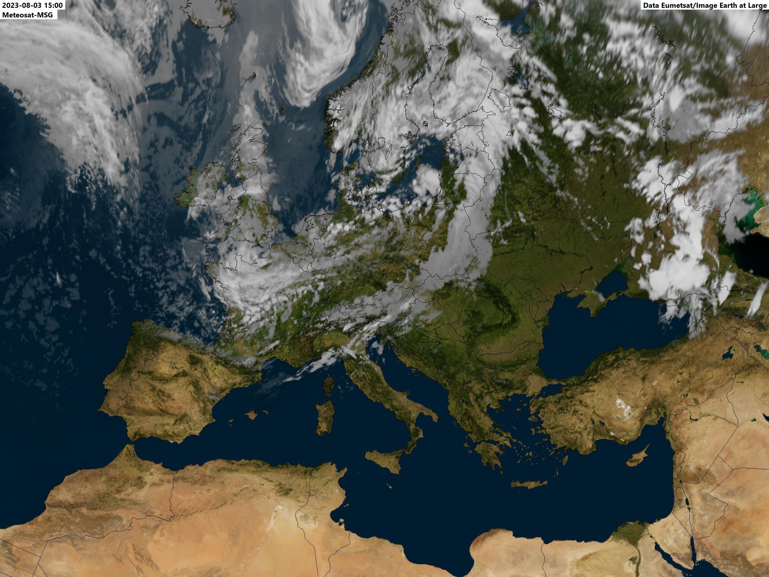 Image meteo du jour Europe